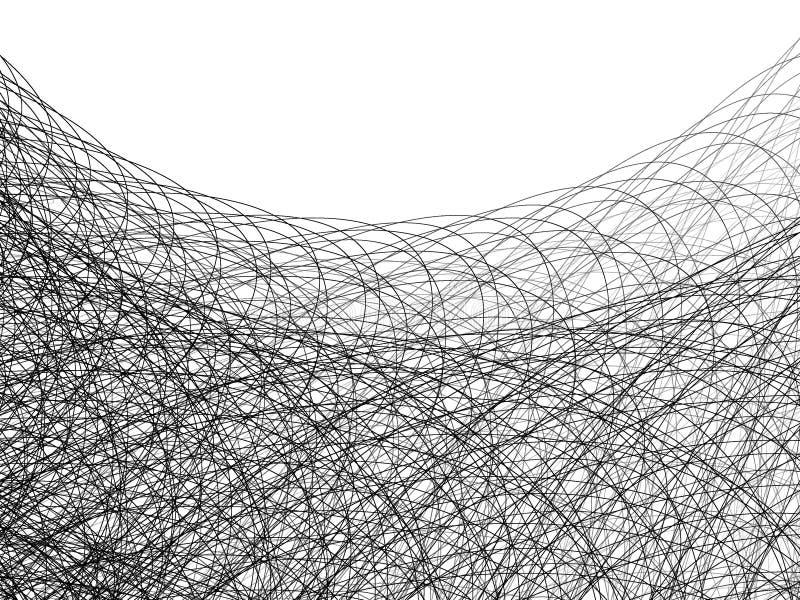 linje whitetråd för 2 illustration stock illustrationer