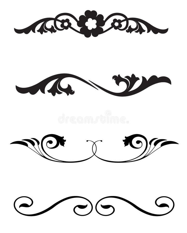 linjen smyckar regel royaltyfri illustrationer