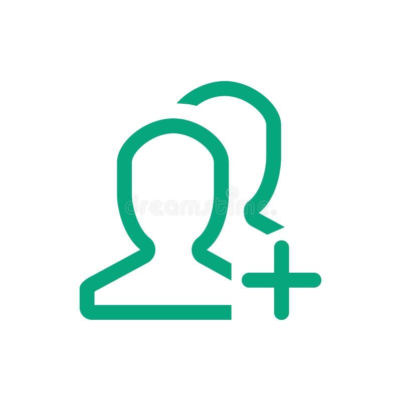 Linjen symbol sammanfogar gruppen stock illustrationer