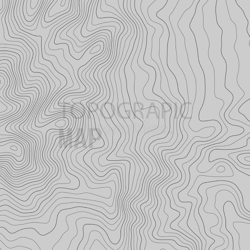 Linjer bakgrund f?r Topographic ?versikt ocks? vektor f?r coreldrawillustration vektor illustrationer