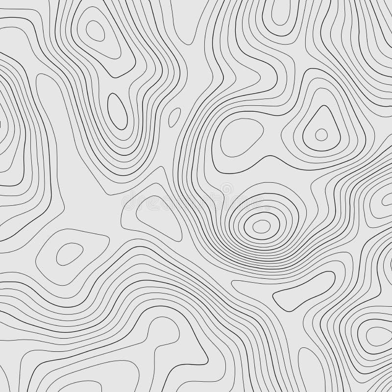 Linjer bakgrund f?r Topographic ?versikt ocks? vektor f?r coreldrawillustration stock illustrationer
