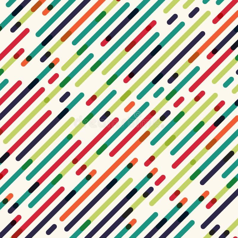 Linjer för Bstract sömlösa diagonala röda gräsplan- och blåttfärg modell vektor illustrationer