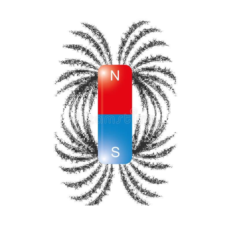 Linjer för järnarkiveringsmagnetfält vektor royaltyfri illustrationer