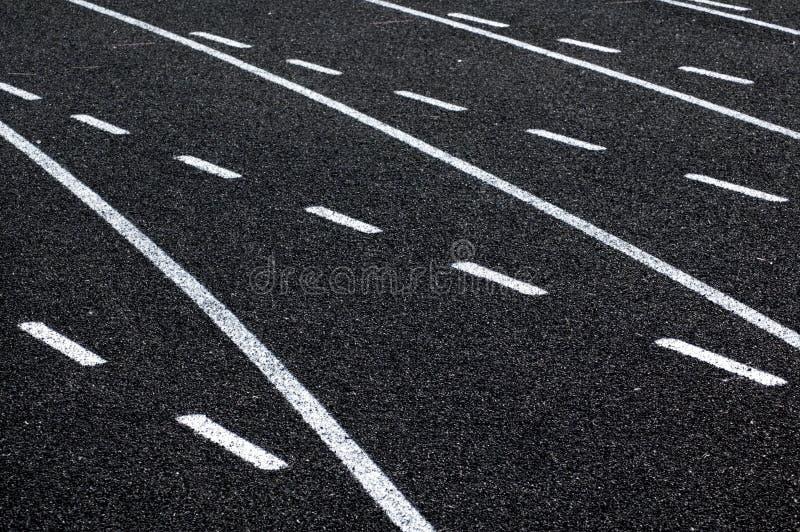 linjer som kör spåret arkivfoton