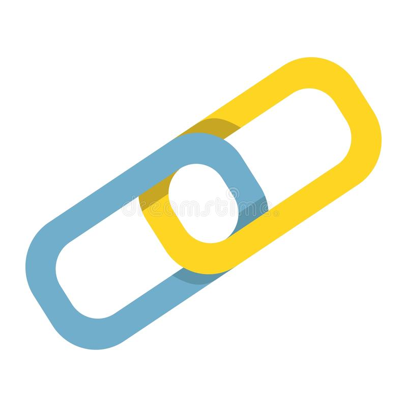 Link Building flat icon, seo and development royalty free illustration