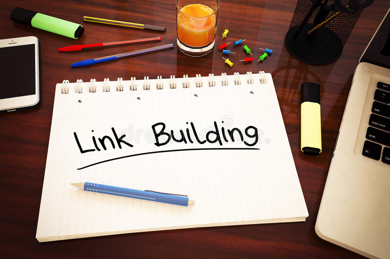 Link Building vector illustration