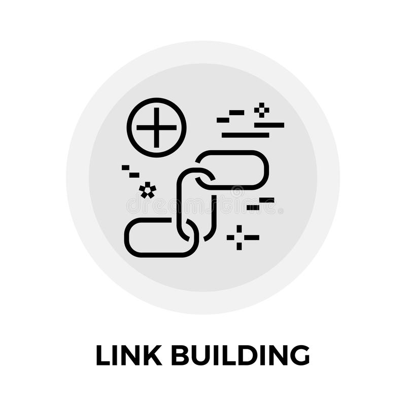 Link Building Line Icon. Link Building icon vector. Flat icon isolated on the white background. Editable EPS file. Vector illustration royalty free illustration