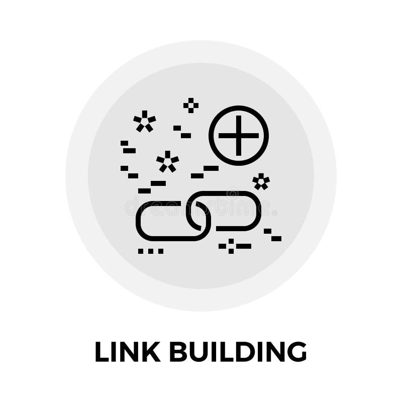 Link Building Line Icon vector illustration