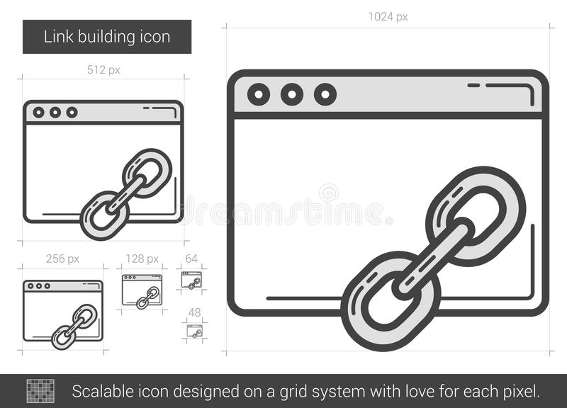 Link building line icon. royalty free illustration