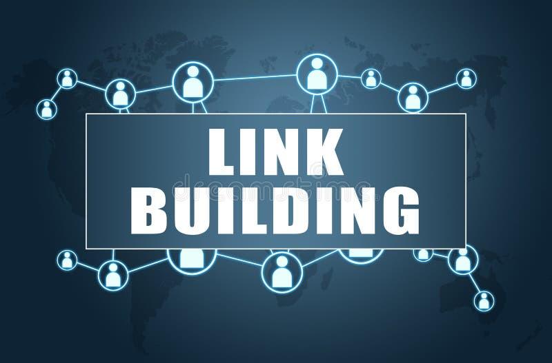 Link Building vector illustration