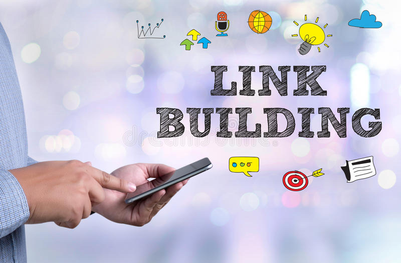 LINK BUILDING stock image