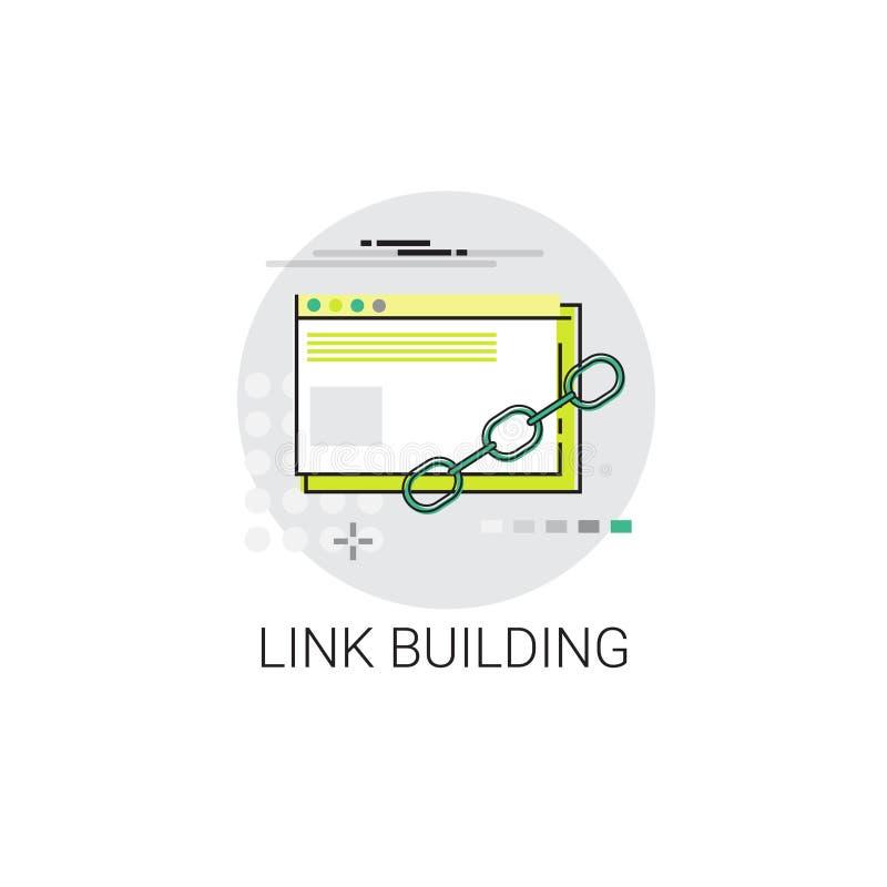 Link Building Seo Keywording Search Icon royalty free illustration