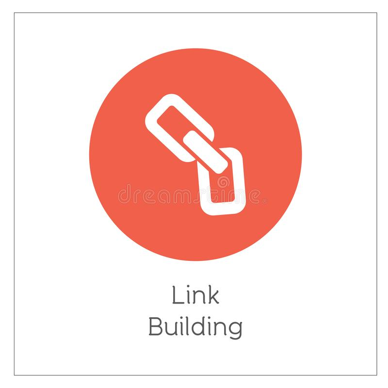 Link Building Simple Logo Icon Vector Ilustration.  vector illustration