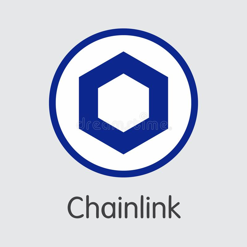 LINK - Chainlink. The Logo of Money or Market Emblem. LINK - Chainlink. The Market Logo or Emblem of Coin, Market Emblem, ICOs Coins and Tokens Icon stock illustration