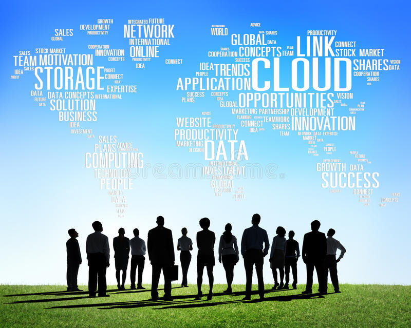 Link Cloud Computing Technology Data Information Concept royalty free illustration