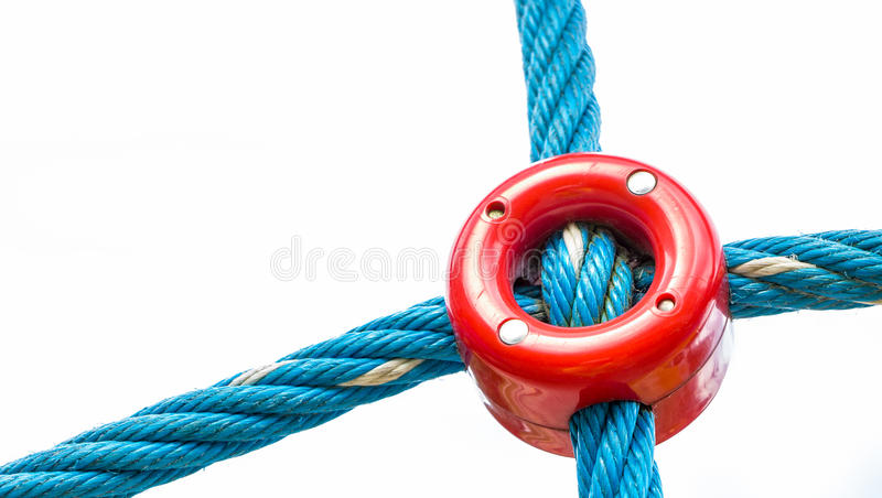Link connecting ropes royalty free stock image
