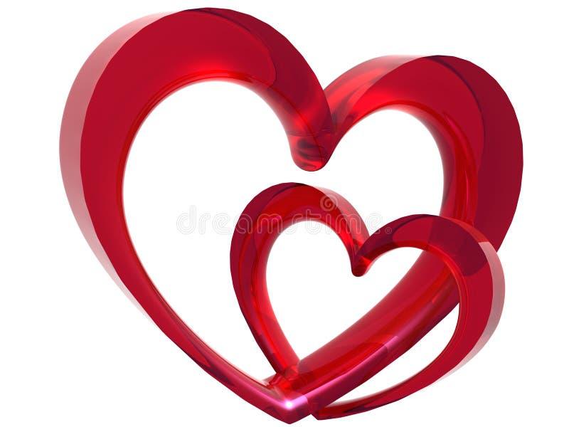 Link des Valentinsgrußes lizenzfreie abbildung