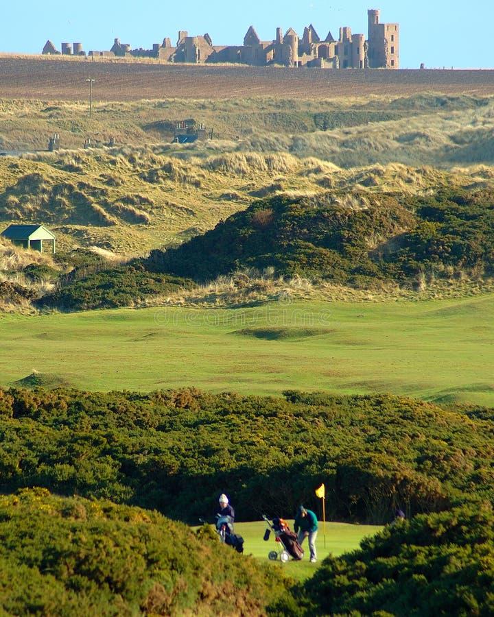 Link-Golfplatz stockbilder
