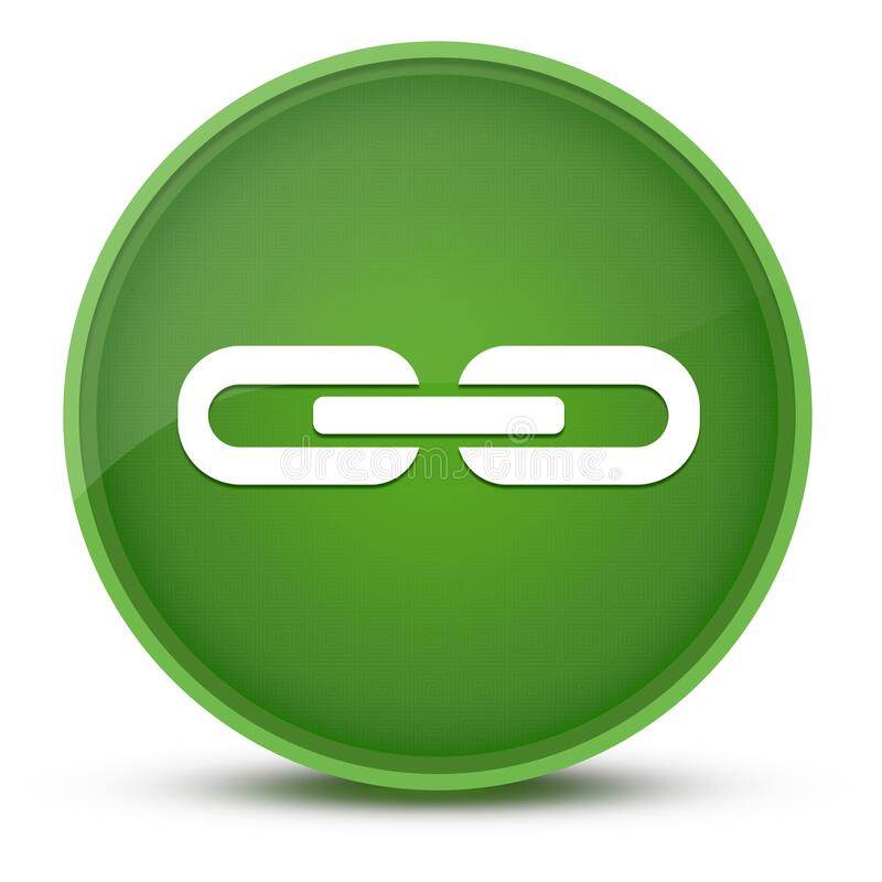 Free Link Luxurious Glossy Green Round Button Abstract Royalty Free Stock Photo - 225844355