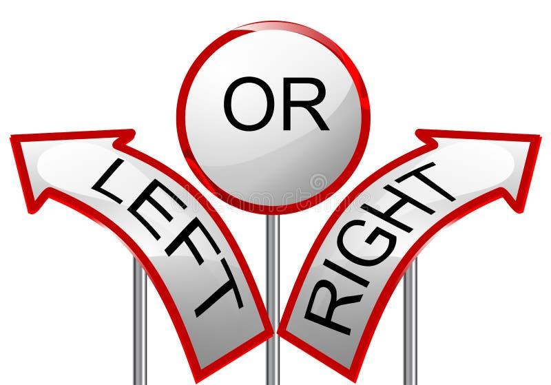 Link oder recht vektor abbildung