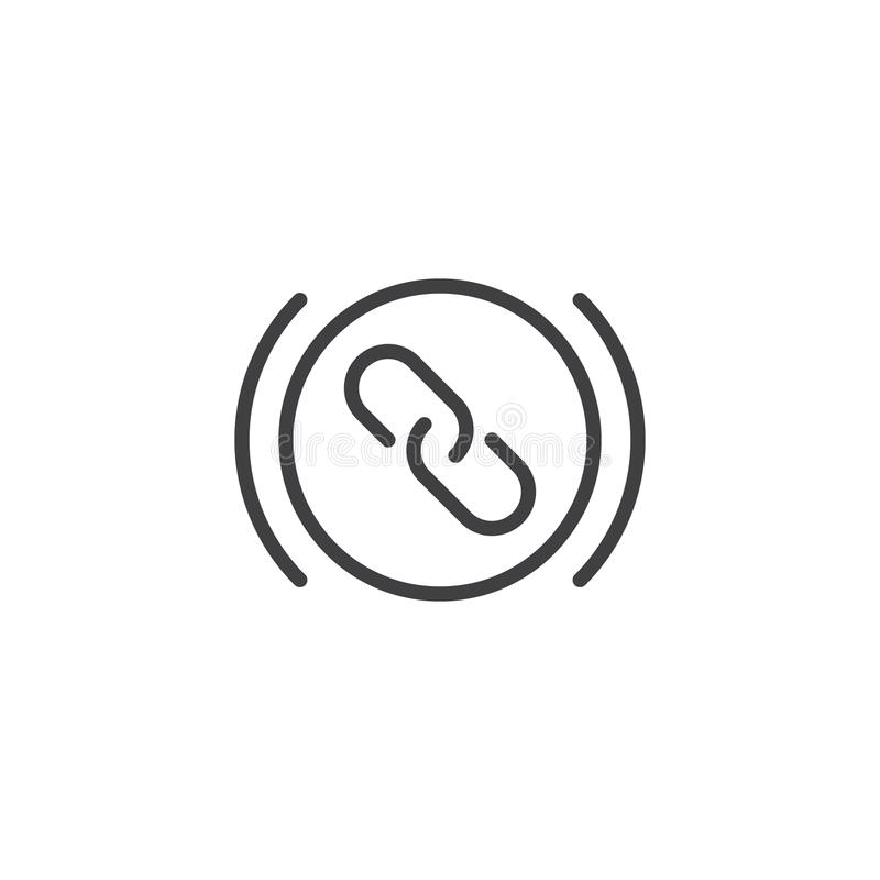 Link outline icon royalty free illustration