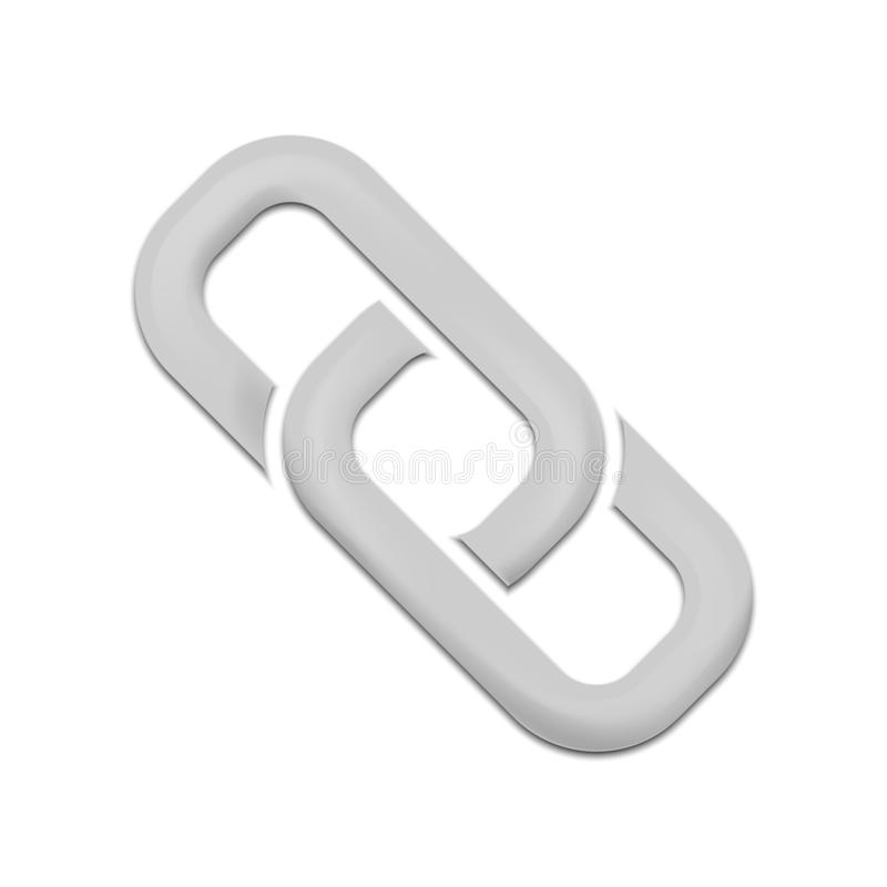 Link sign isolated on white background. Vector illustration. royalty free illustration