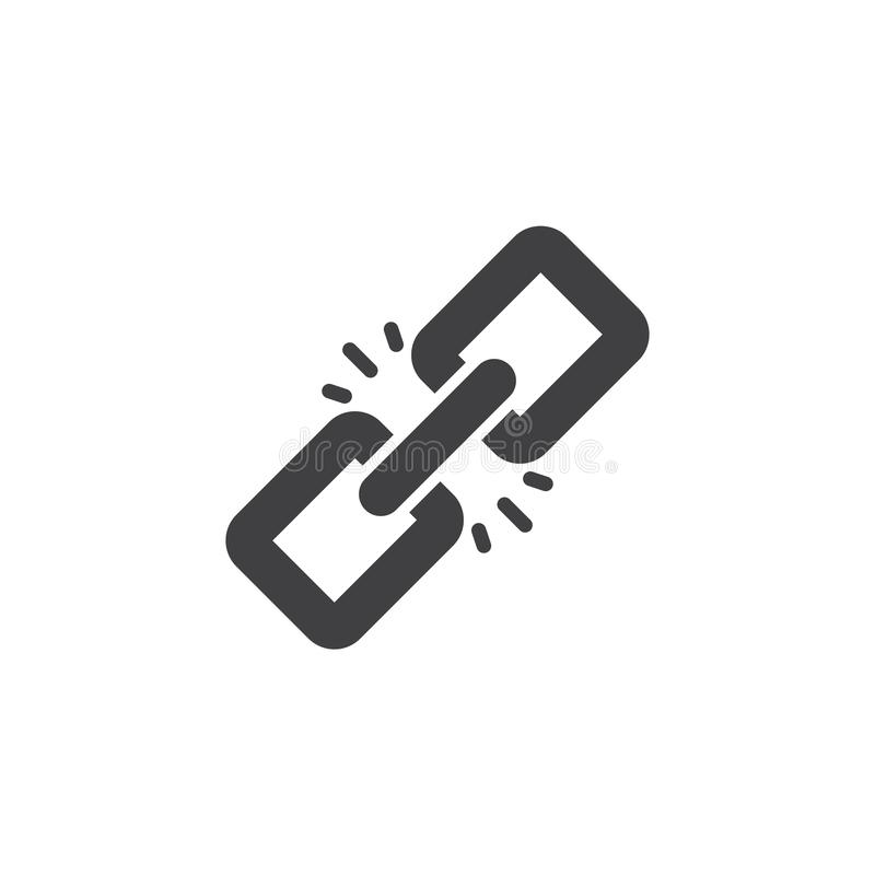 Link vector icon. Filled flat sign for mobile concept and web design. Chain simple solid icon. Symbol, logo illustration. Pixel perfect vector graphics vector illustration