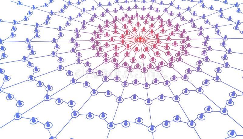 Link-Web-Infektion lizenzfreie abbildung