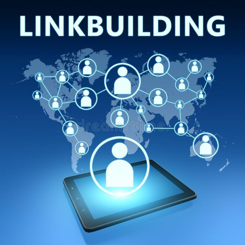 Linkbuilding illustration stock