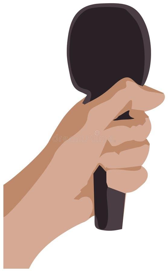 Linke Hand mit Vektor des Mikrofons ENV lizenzfreies stockfoto