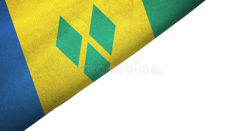 Linke Seite St. Vincent und die Grenadinen Flagge mit leerem Kopienraum vektor abbildung