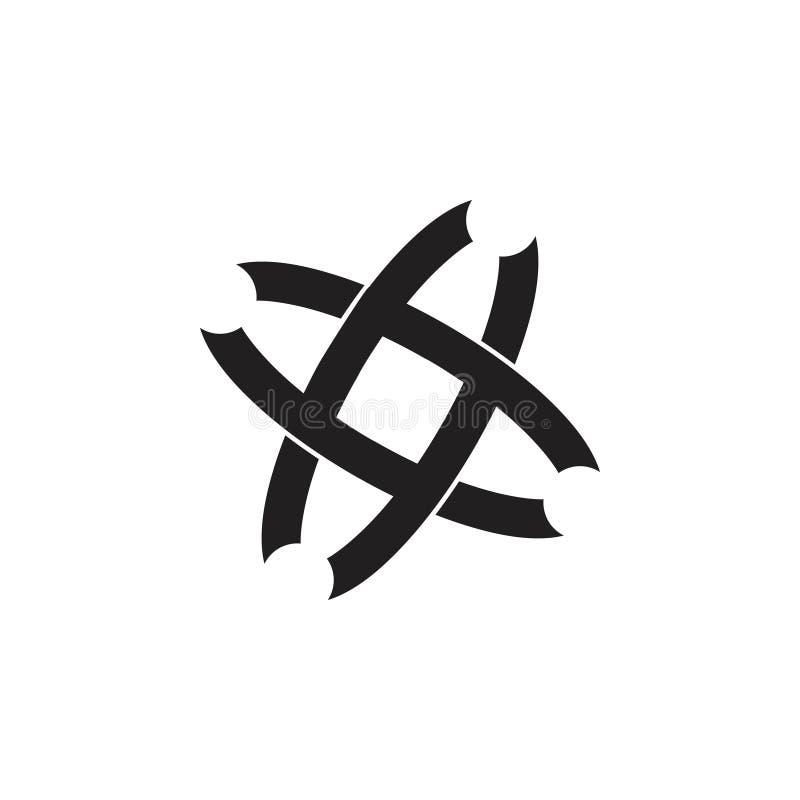 Linked överlappande linje enkel logovektor vektor illustrationer