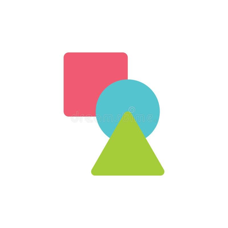 Linked baserade vektorn för formsymbolutbildning stock illustrationer