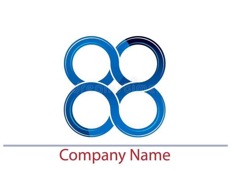 Linked circles. Isolated illustrated logo design royalty free illustration
