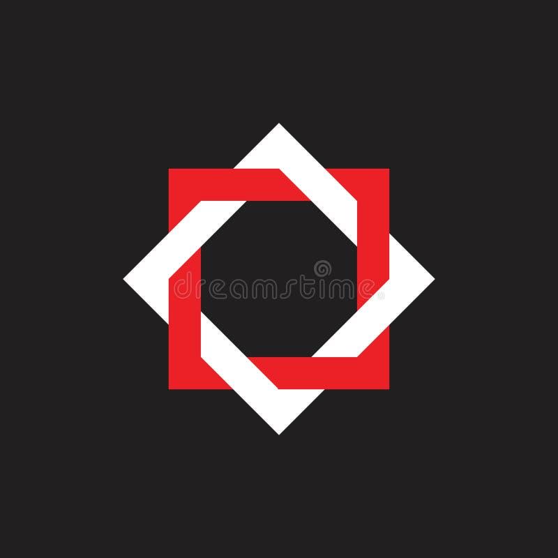 Linked Frame Star Swirl Logo-Vektor stock abbildung