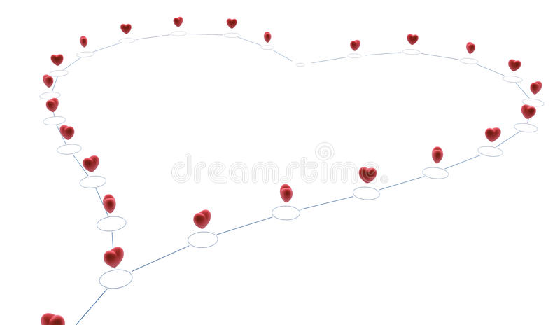 Download Linked Heart stock illustration. Image of group, lines - 22936425