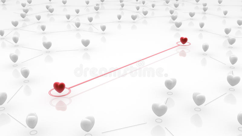 Download Linked Heart Couple Royalty Free Stock Photos - Image: 22936398