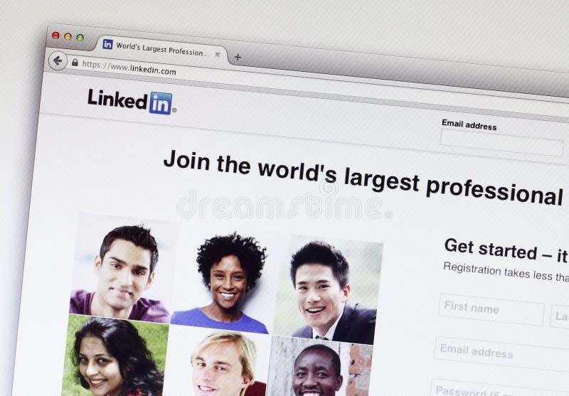 Linkedin lizenzfreie stockbilder