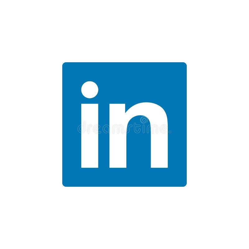 Linkedin coloriu o ícone Elemento do ícone social da ilustração dos logotipos dos meios Os sinais e os símbolos podem ser usados  ilustração do vetor