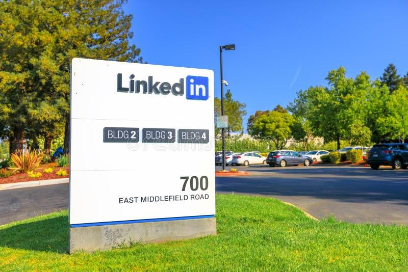 Linkedin Corp tecken arkivbild