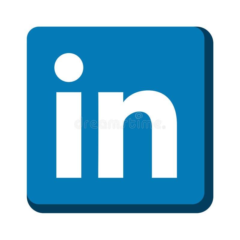 Linkedin icon royalty free illustration