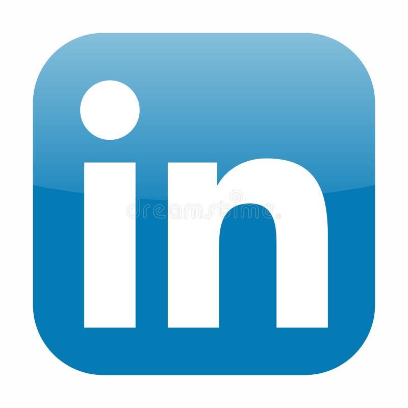 LinkedIn icon vector royalty free illustration