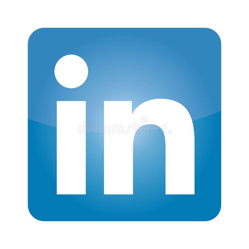 LinkedIn ikony wektor fotografia editorial. Ilustracja złożonej z ...