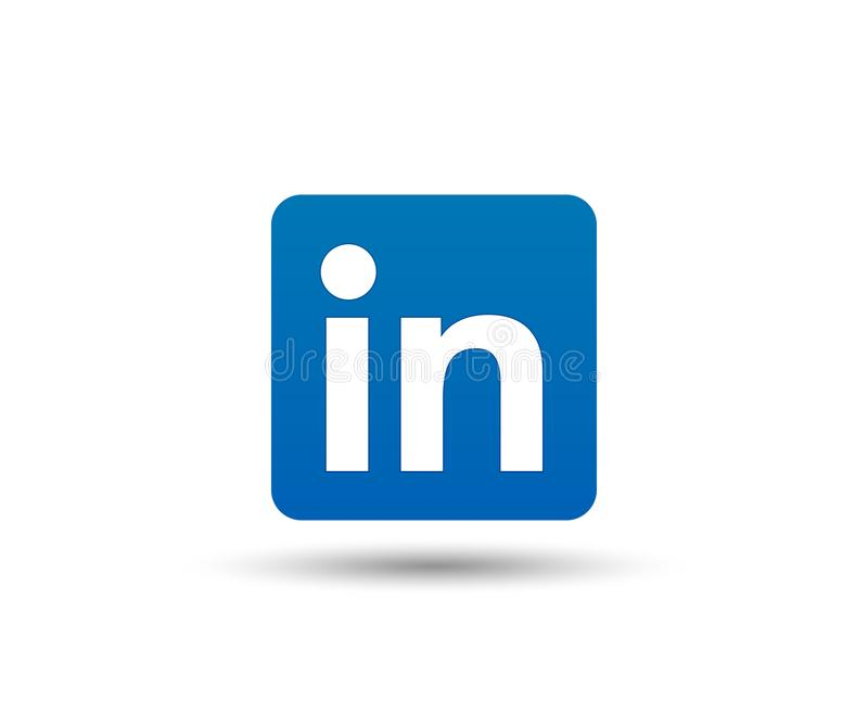 Linkedin loga ikona Ogólnospołeczny medialny symbol Biznesowi kontakty wektor ilustracja wektor