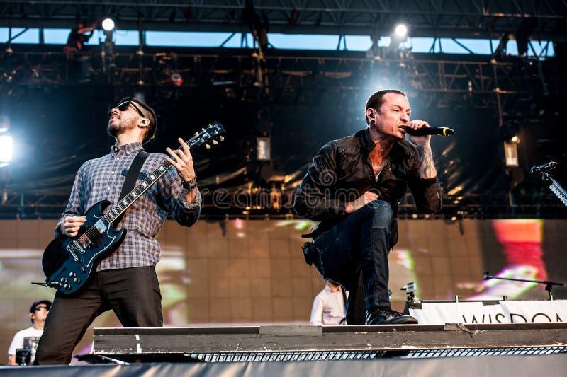Linkin Park concert stock images