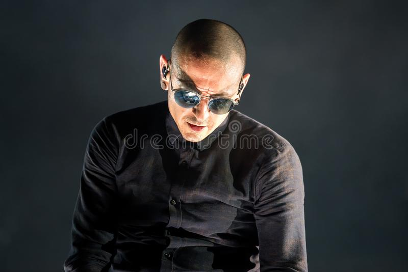 Linkin Park music band perform in concert at Download stock photography