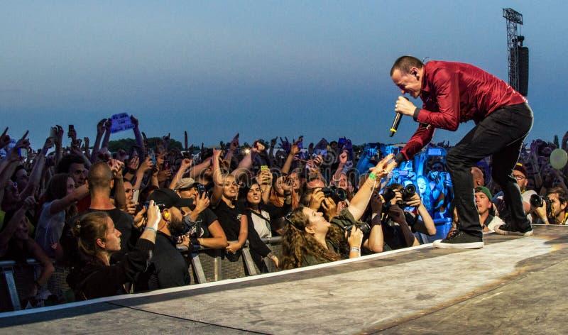 Chester Bennington - Linkin Park stock photos