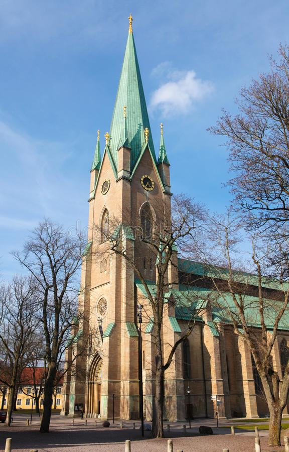 Linkoping cathedral royalty free stock photography