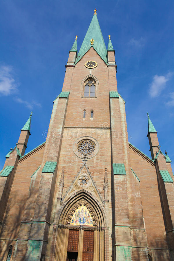 Linkoping cathedral stock photo