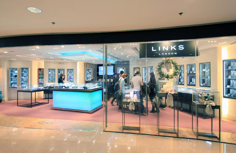 Links shop in Hong Kong. Links shop, located in Harbour City, Tsim Sha Tsui, Hong Kong. Links is a jewellery retailer in Hong Kong stock photo